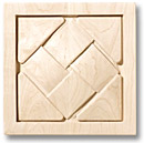 "Hand carved onlay- basket weave motif (5-7/8"") by Hafele"