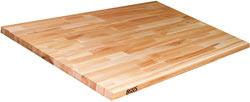 John Boos Blended Maple 36 Wide Island Top, 1-1/2 Thick, 97 X 36, Varnique Finish