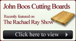 John Boos featured on Rachel Ray