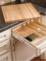 Rev-A-Shelf Knife Holder and Cutting Board Drawer System