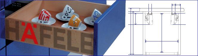 Hafele Sliding Hardware Drawer Slides and Pantry Pullouts
