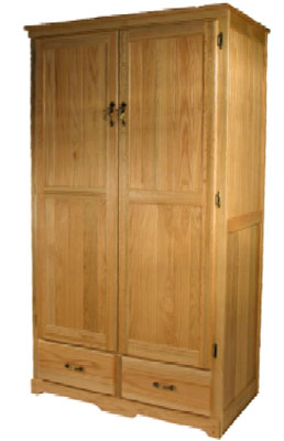 Bradley Brand Furniture Pantry Cabinet 72H x 40W, Finished, Fruitwood Stain