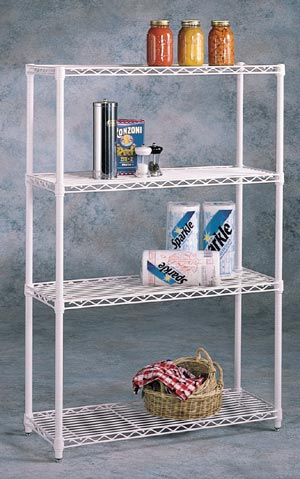 Inter Metro 4 Shelf Prepack Storage Unit, Chrome at Sears.com