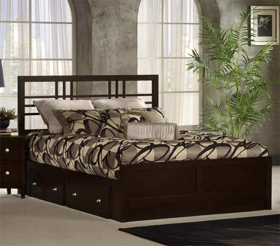 Hillsdale Furniture Tiburon Kona Complete Storage Bed, King