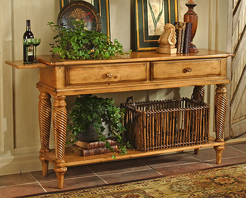 Hillsdale Furniture Wilshire Sideboard Table, Antique Pine