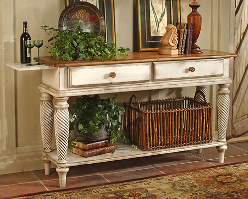 Hillsdale Furniture Wilshire Sideboard Table, Pine/Antique White
