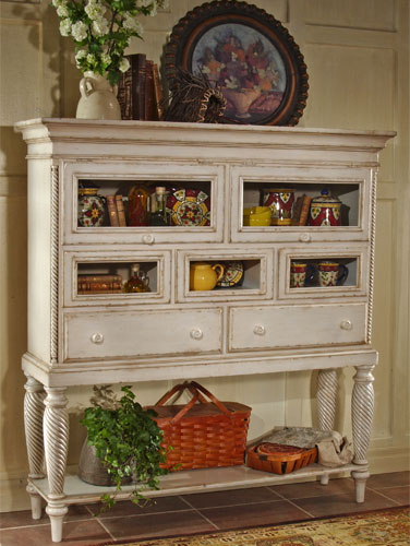 Hillsdale Wilshire Sideboard Cabinet, Antique White