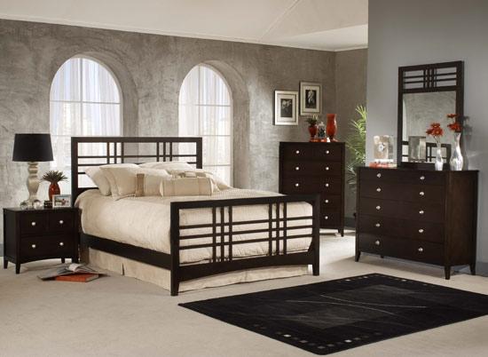 Hillsdale Furniture Tiburon Kona 4-Piece Bedroom Set w/ Wood Grill Queen Bed