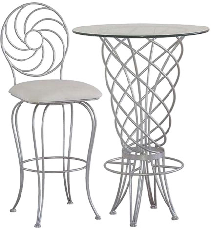Serra Designs Spiral Bistro Table 30 inchD x 41+ inchH