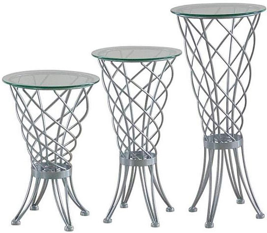 Serra Designs Spiral Small Pedestal Table 16 inchD x 24 inchH