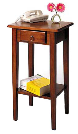 Winsome Wood Phone/Plant Stand Table in Walnut Finish 17W x 14D x 29.5H