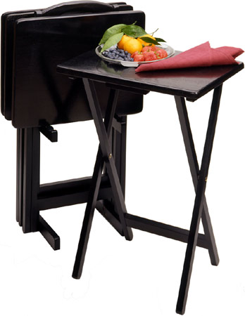 Winsome Wood - TV Table Set, Black finish