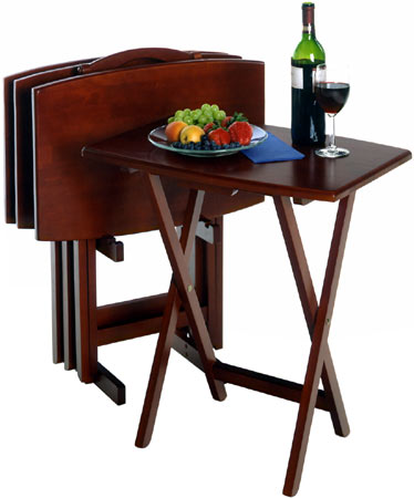 Winsome Wood - TV Table Set, Walnut finish