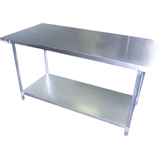 "Aero 18 Gauge Stainless Steel  AI Work Tables 24"" and 30"" Deep"