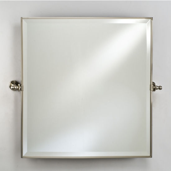Bathroom mirrors radiance framed square bevel wall for Square mirror