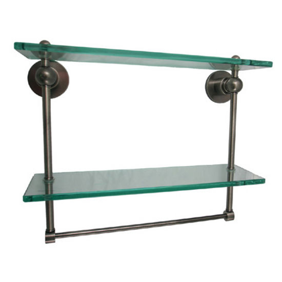 Astor Place Double Shelf w/Towel Bars