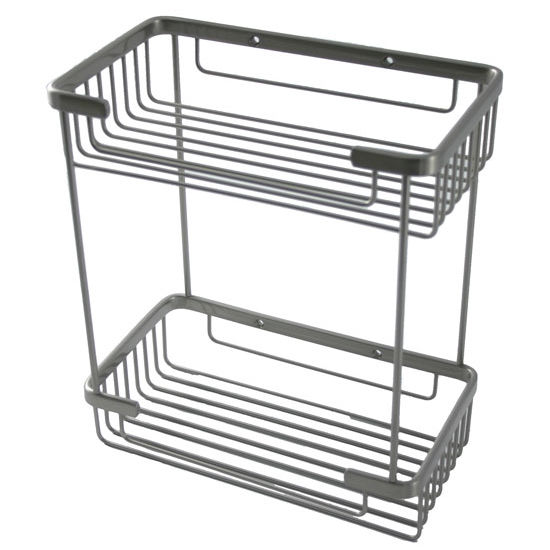 Rectangular Double Shower Basket