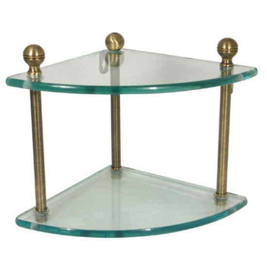 Mambo Collection Double Corner Glass Shelf