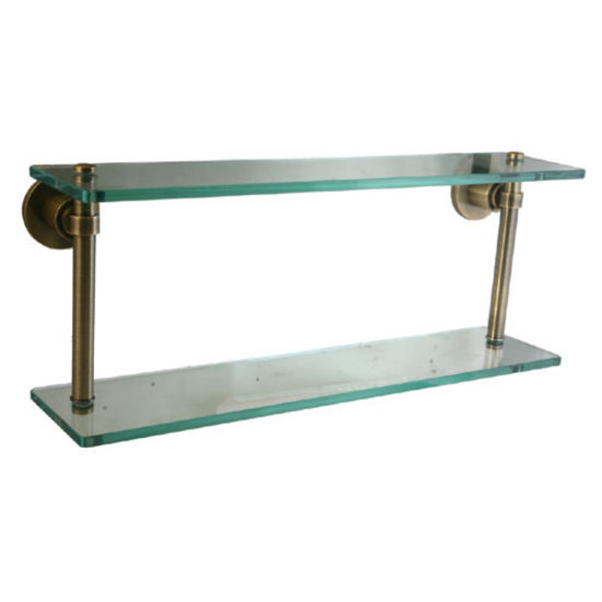 Allied Brass Washington Square Collection 16'' W - 22'' W Double Glass Shelf