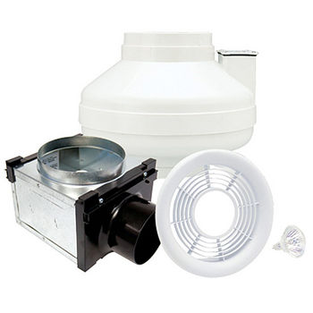 Air King Single Inline Exhaust Fan Kits With Lights