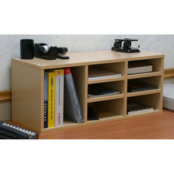 American Furnishings 9 Compartment Desk Organizer,  31inch W x 12inch D x 13inch H, Maple at Sears.com