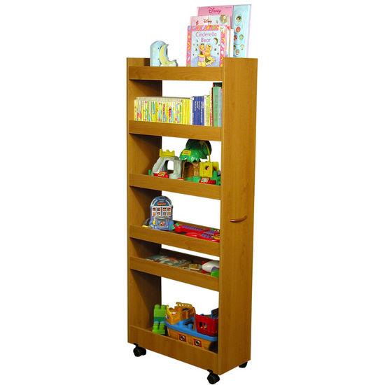 American Furnishings Thin Man Pantry Cabinet, 10 W x 23? D 58 H, Oak (Shown in White)