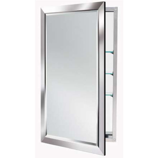 Alno 4000 Series Mirrored Medicine Cabinet W Polished Chrome