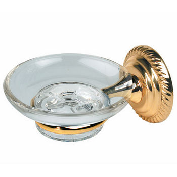 Alno Regency Series Glass Soap Dish with Wall Mounted Holder