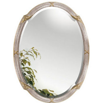 "Alno Framed Oval Bathroom Mirrors, 26-1/2""W x 35-1/2""H"