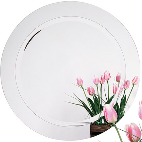 Alno Frameless Round Bathroom Mirror