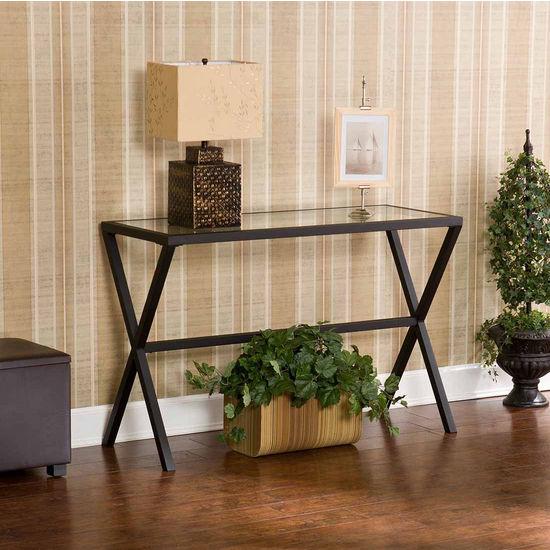 Southern Enterprises Exhilaration Metal Sofa Table, 46 inch W x 18 inch D x 30 inch H
