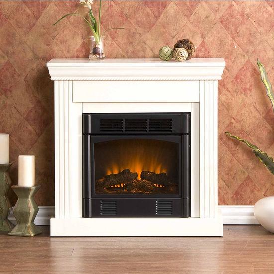 Southern Enterprises Walden Ivory Electric Fireplace, 29-1/2W x 12D x 29H