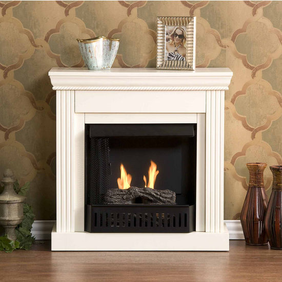 Southern Enterprises Walden Ivory Gel Fuel Fireplace, 29-1/2W x 12D x 29H