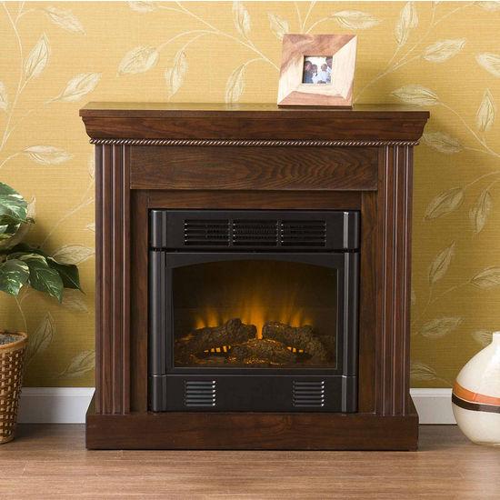 Southern Enterprises Walden Espresso Electric Fireplace, 29-1/2W x 12D x 29H