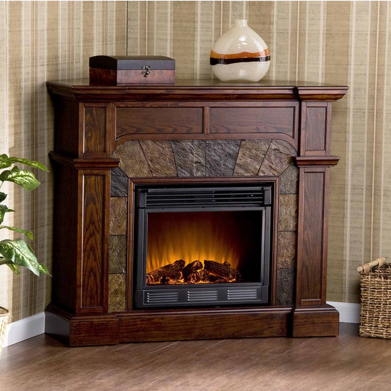 Southern Enterprises Cartwright Espresso Convertible Electric Fireplace, 45-1/2W x 15-1/2D x 40-1/4H