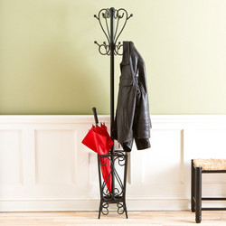 Southern Enterprises - Scrolled Coat Rack and Umbrella Stand