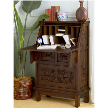 Holly & Martin™ Logan Hand Carved Secretary Desk
