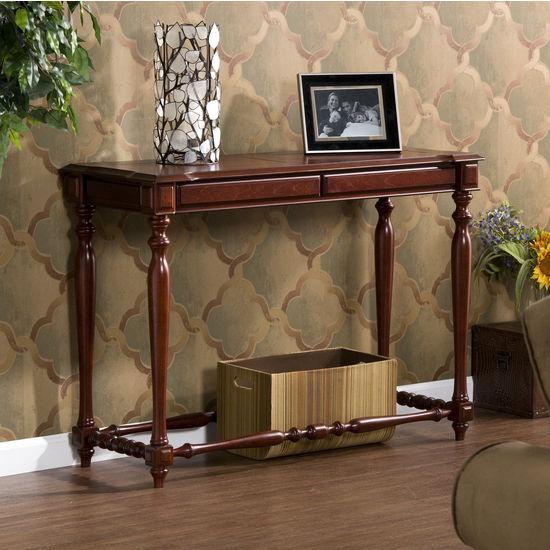 Southern Enterprises - Millsburg Mahogany Sofa Table, 42 W x 16 D x 30 H