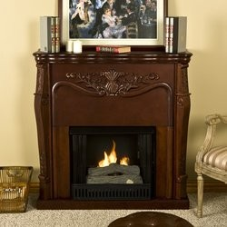 Southern Enterprises Raphael Gel Fuel Fireplace, Mahogany