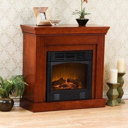 Southern Enterprises - Walden Gel Fuel Fireplace, 29 1/2 W x 12 D x 29 H, Classic Mahogany