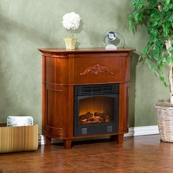 Southern Enterprises - Mayfair Petite Gel Fuel Fireplace, 34 1/2 W x 13 D x 34 H, Classic Mahogany