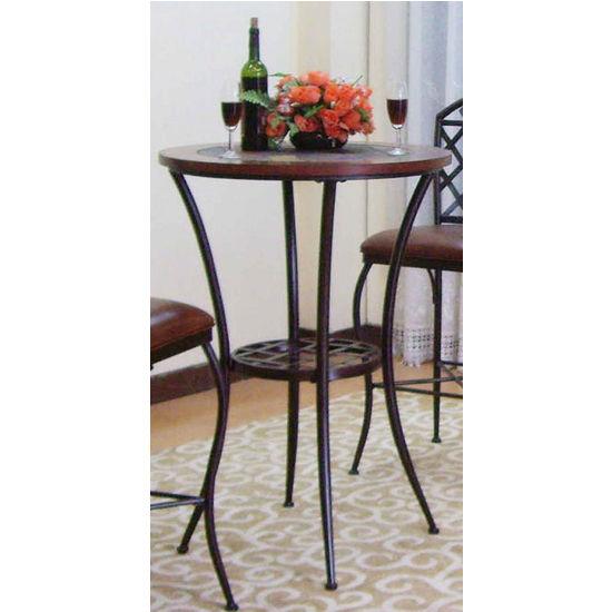 Southern Enterprises Stone Mountain Bistro Table, Black, 30 inch W x 30 inch D x 30 inch H