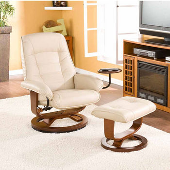 Holly & Martin™ Hemphill Leather Recliner and Ottoman