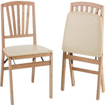 "Alston Folding Dining Chair with Upholstered Seat 16.5""W x 16""D x 33-1/2""H Packed 4 per Carton"