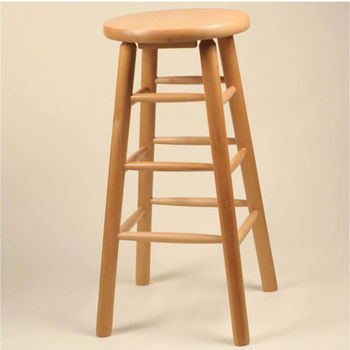 Alston Solid Wood Backless Bar Stool
