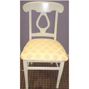 Napolean Side Chair with White Sand Wood Frame & Fabric Seat by Alston