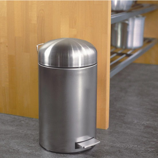 12 Liter Stainless Steel Retro Bin/ Step Cans By Brabantia