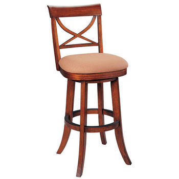 Berkline Simplicity Collection Lenox Swivel Barstool
