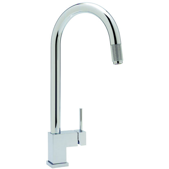 Blanco Faucets Usa : Blanco Cubiq Kitchen Faucet w/metal pull-down spray, Polished Chrome ...