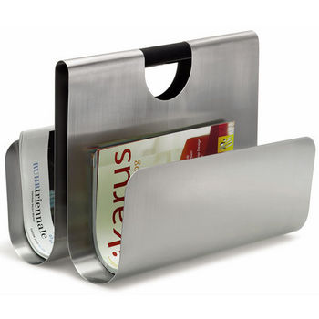 Blomus Wactor Brushed Stainless Steel Magazine Rack